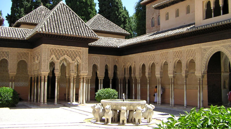 La Alhambra moorish palace in Granada